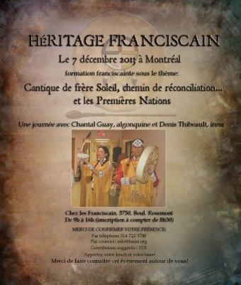 Affiche Héritage Franciscain déc 2013