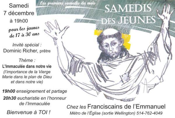 Publicité Samedi des Jeunes - Décembre 2013