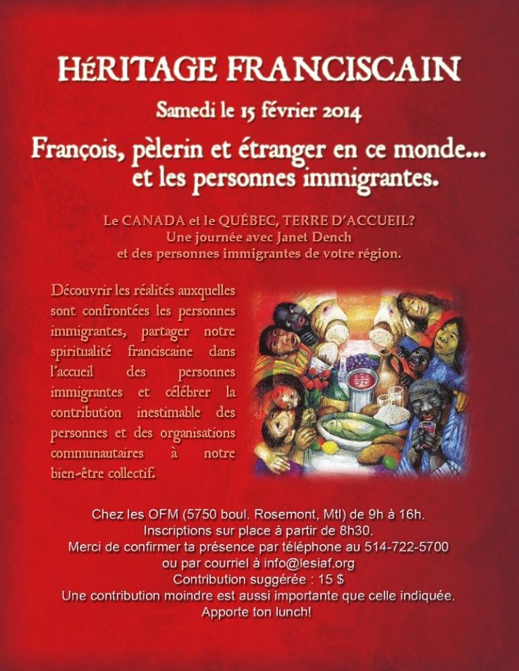 Héritage Franciscain 15 février 2014