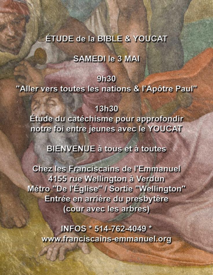 Bible et youcat 3 mai