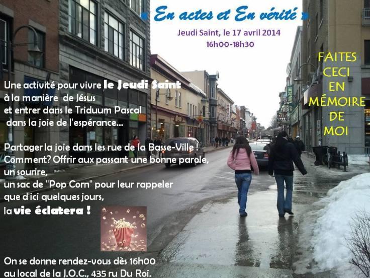 Jeudi Saint 2014