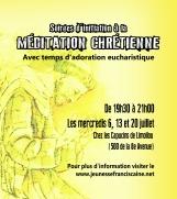 Adoration et méditation (mois de juillet)
