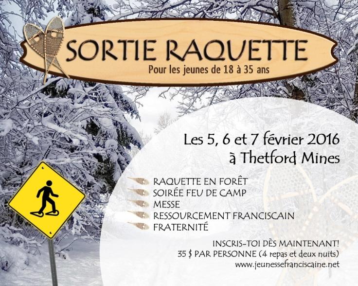 AFFICHE RAQUETTE 2016