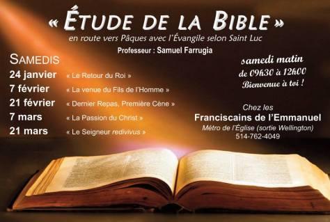 calendrier bible