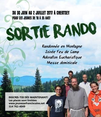 AFFICHE SORTIE RANDO 2017