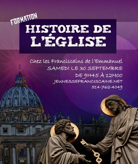 Histoire de l'Église affiche 30 sept