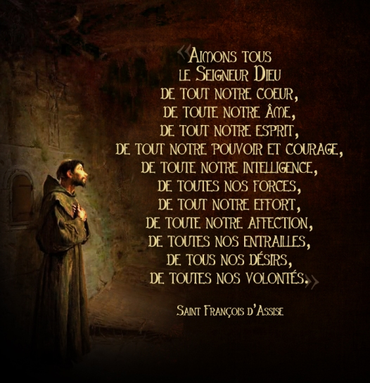 François d'Assise - Aimons tous le Seigneur Dieu