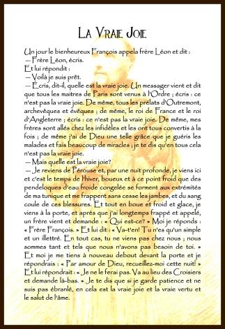 François d'Assise - La Vraie Joie