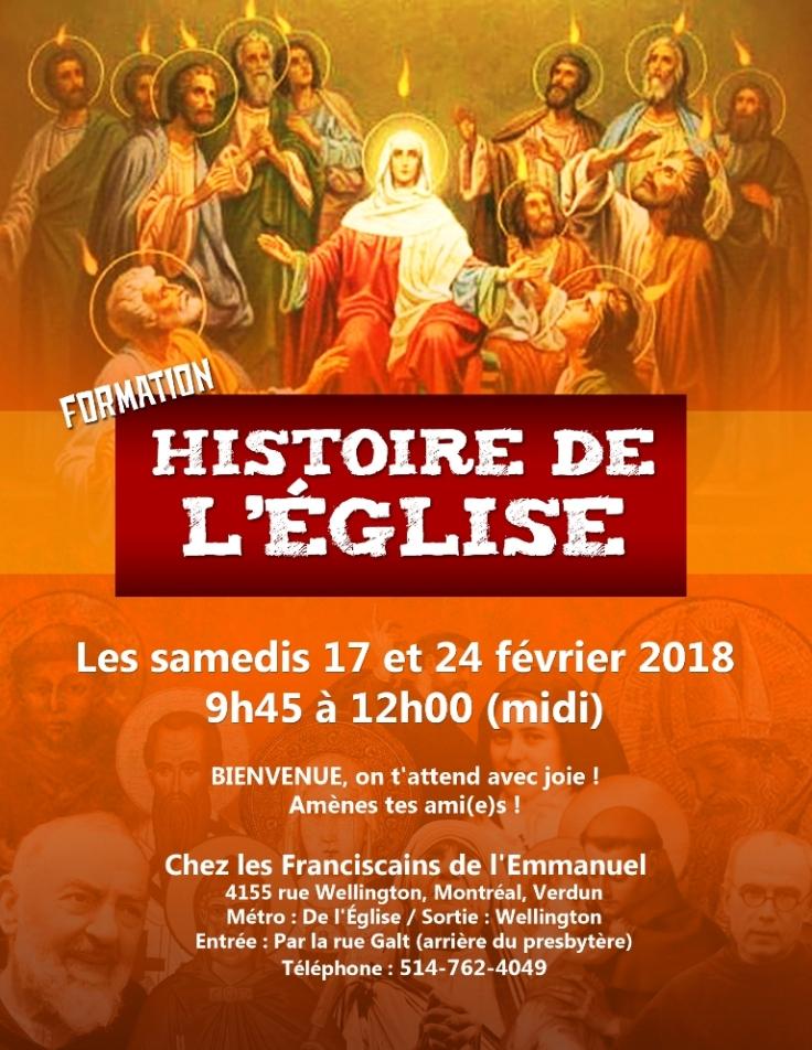 Affiche Hist de l'Eglise fév 2018