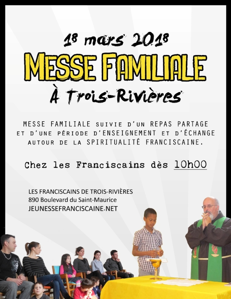 Affiche Messe Familiale à TR MARS 2018