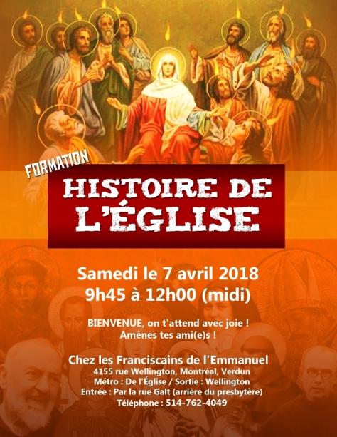 Affiche Hist de l'Eglise7 avril 2018