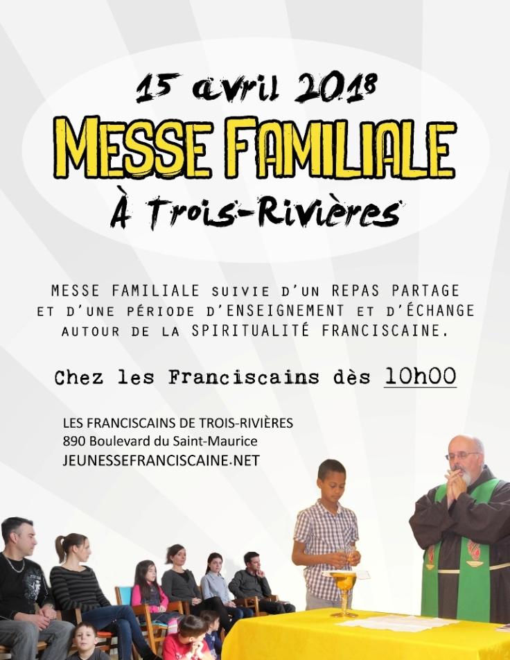 Affiche Messe Familiale à TR AVRIL 2018
