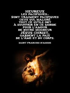 François d'Assise - Heureux les pacifiques