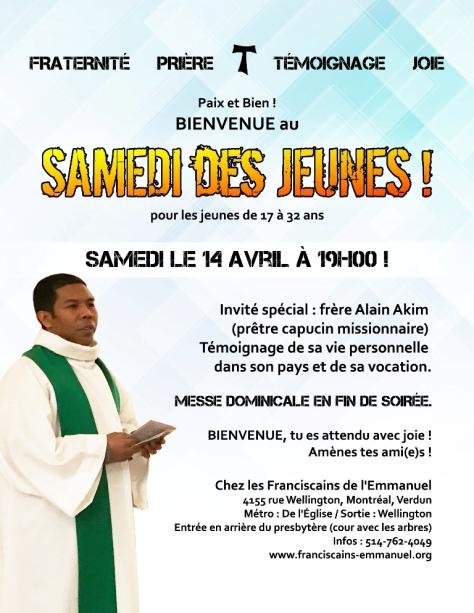 Samedi des Jeunes avril 2018 jauneetorange