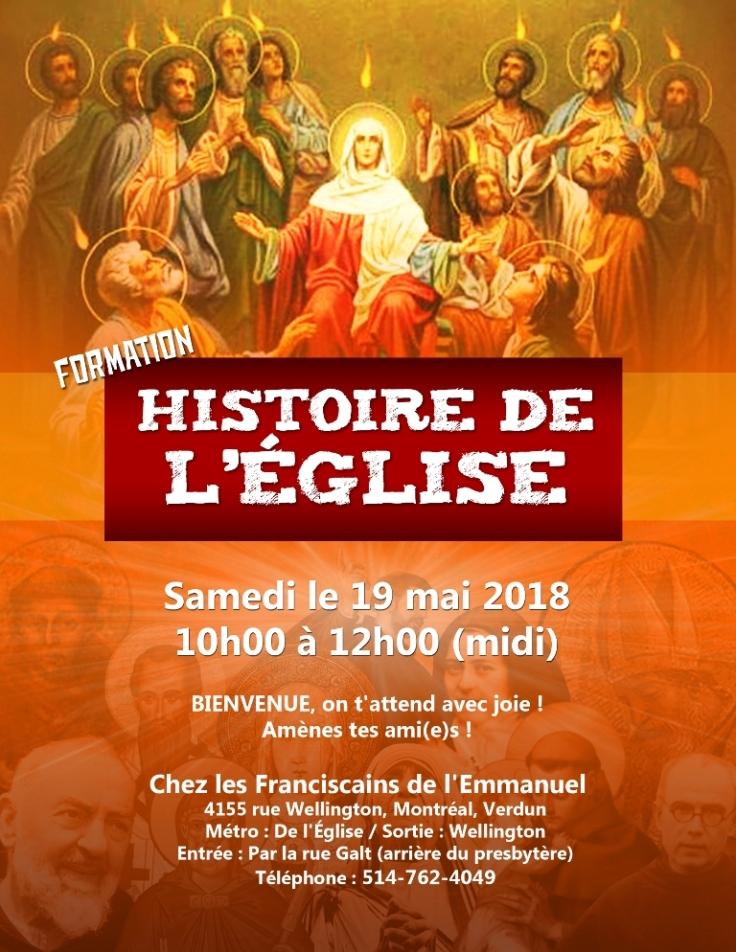 Affiche Hist de l'Eglise 19 mai 2018