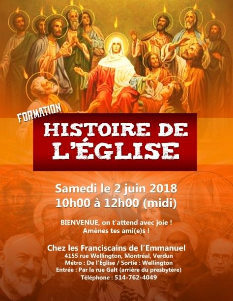 Affiche Hist de l'Eglise 2 juin 2018