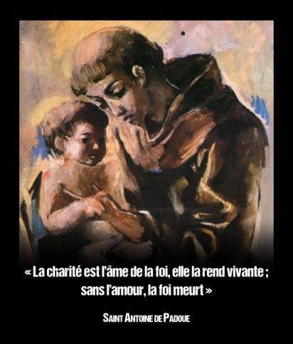 Antoine de Padoue - La charité est l'âme de la foi