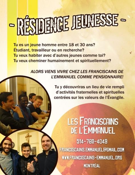 Residence jeunesse FE Montréal 1