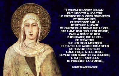 Claire d'Assise - l'ame fidèle plus grande que le ciel