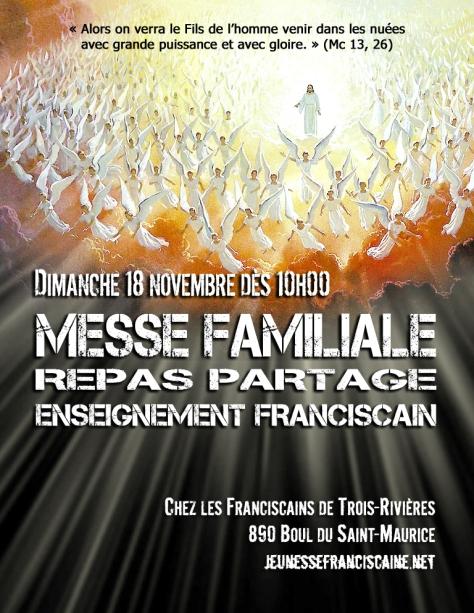 Affiche Messe Familiale à TR novembre 2018