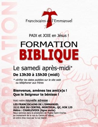 Formation biblique 2018-2019