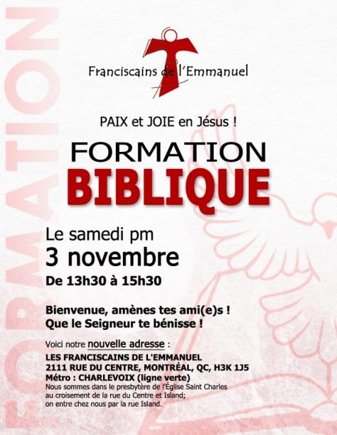 Formation biblique nov 2018