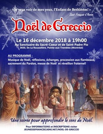 AFFICHE du NOEL DE GRECCIO 2018