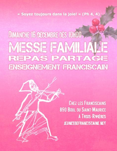 Affiche Messe Familiale à TR décembre 2018