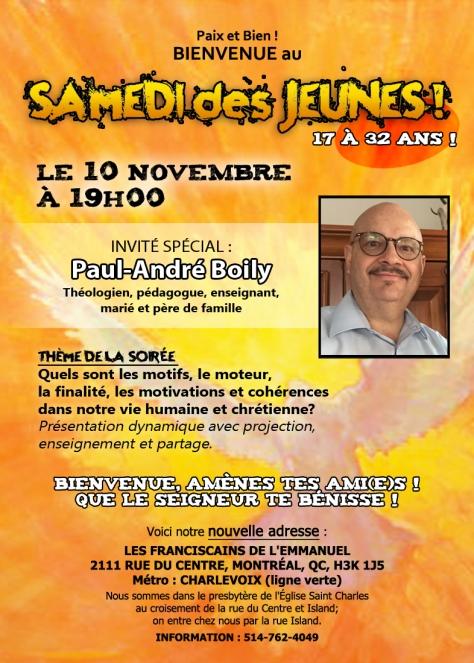 Samedi des Jeunes novembre 2018