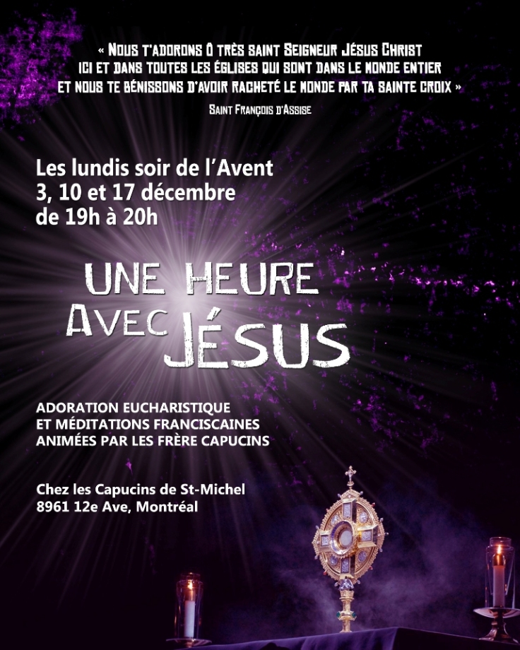 Une heure d'Adoration Avent 2018