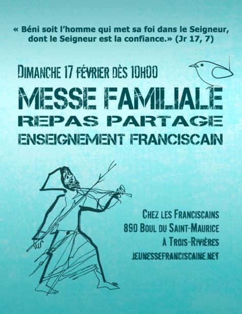 Affiche Messe Familiale à TR février 2019