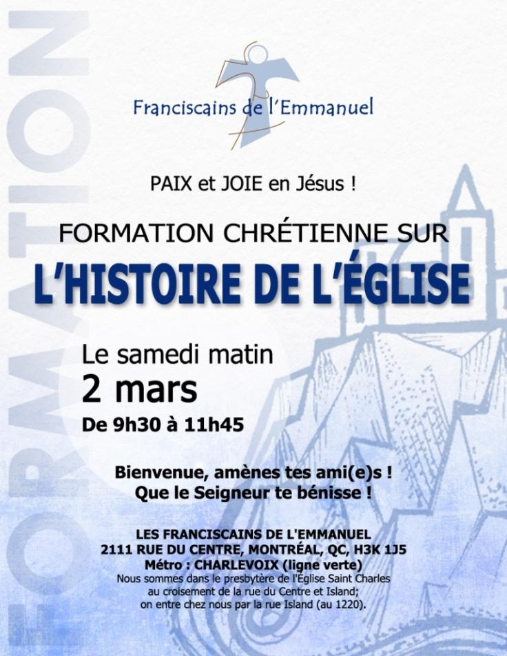 Formation Histoire de l'Église Mars 2019
