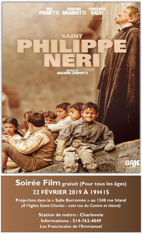 Projection du film « Saint Phillipe Neri »