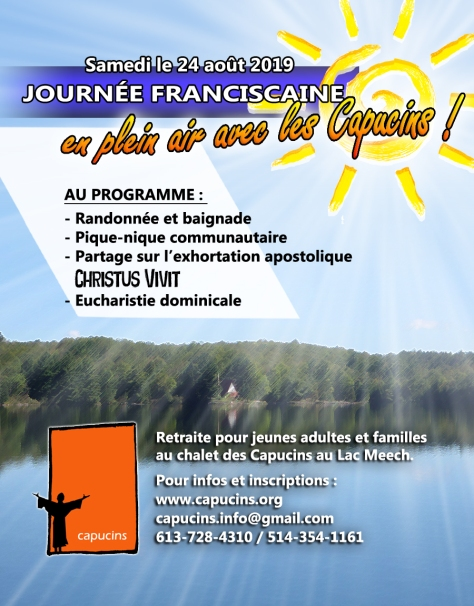 Affiche journée franciscaine Lac Meech 2019