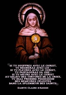 Claire d'Assise_Si tu souffres avec le Christ