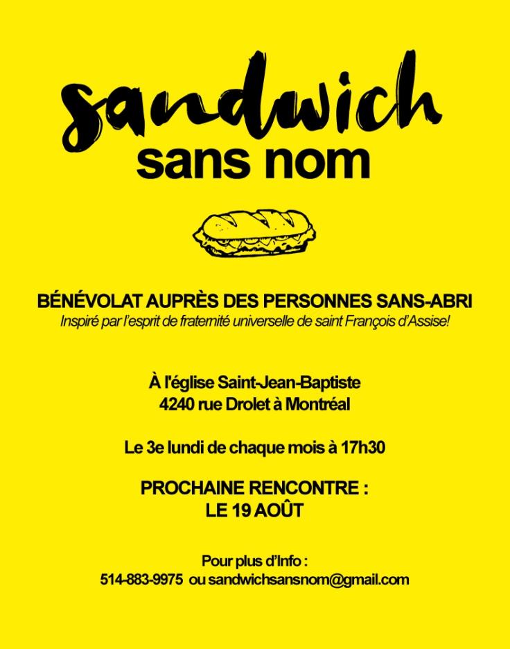 Sandwich sans nom