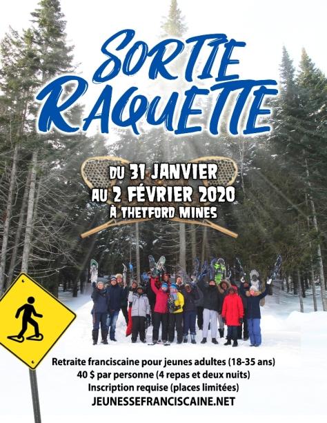 AFFICHE SORTIE RAQUETTE 2020