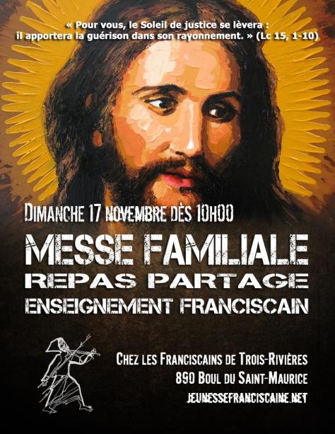 Affiche Messe Familiale à TR novembre 2019