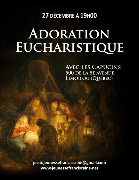 Affiche adoration eucharistique