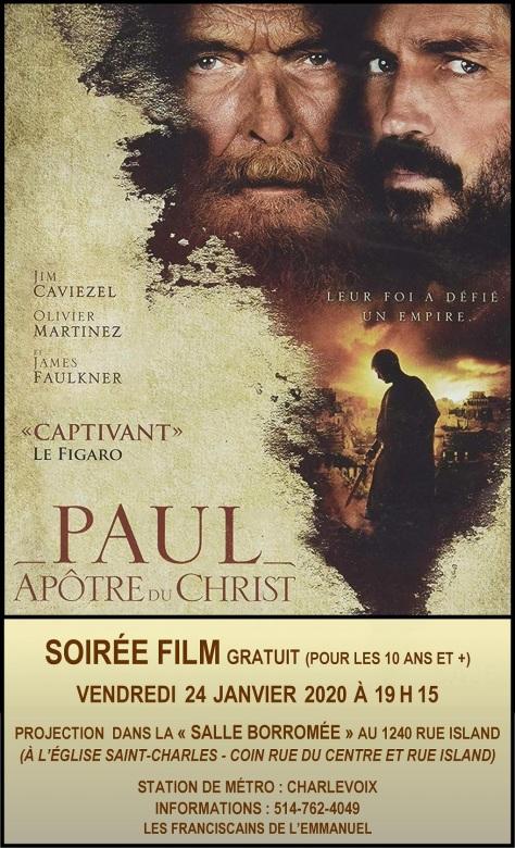 Projection du film « Paul Apôtre du Christ »