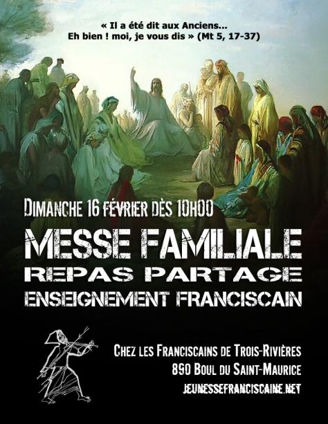 Affiche Messe Familiale à TR février 2020